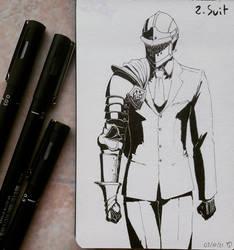 Inktober 2021 Day 2 : Suit