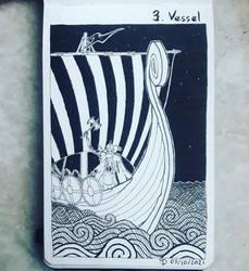 Inktober 2021 Day 3 : Vessel