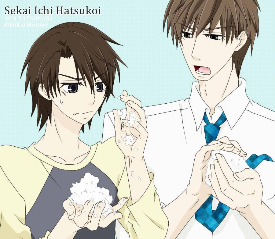 Sekai Ichi Hatsukoi (Chiaki and Hatori) by SUN0627 on ...
