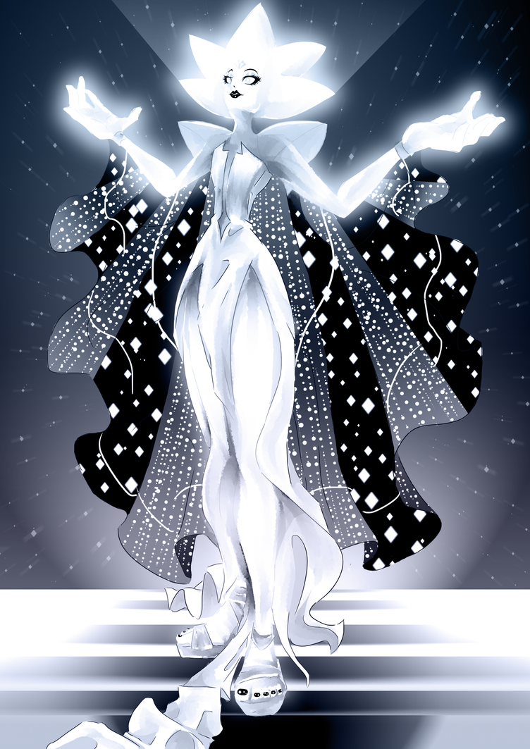 So turns out I still can't draw anything good but anyway. Had to get how cool and amazing White Diamond from Steven Universe actually looks like out of my system through a Fanart ! It looks t...