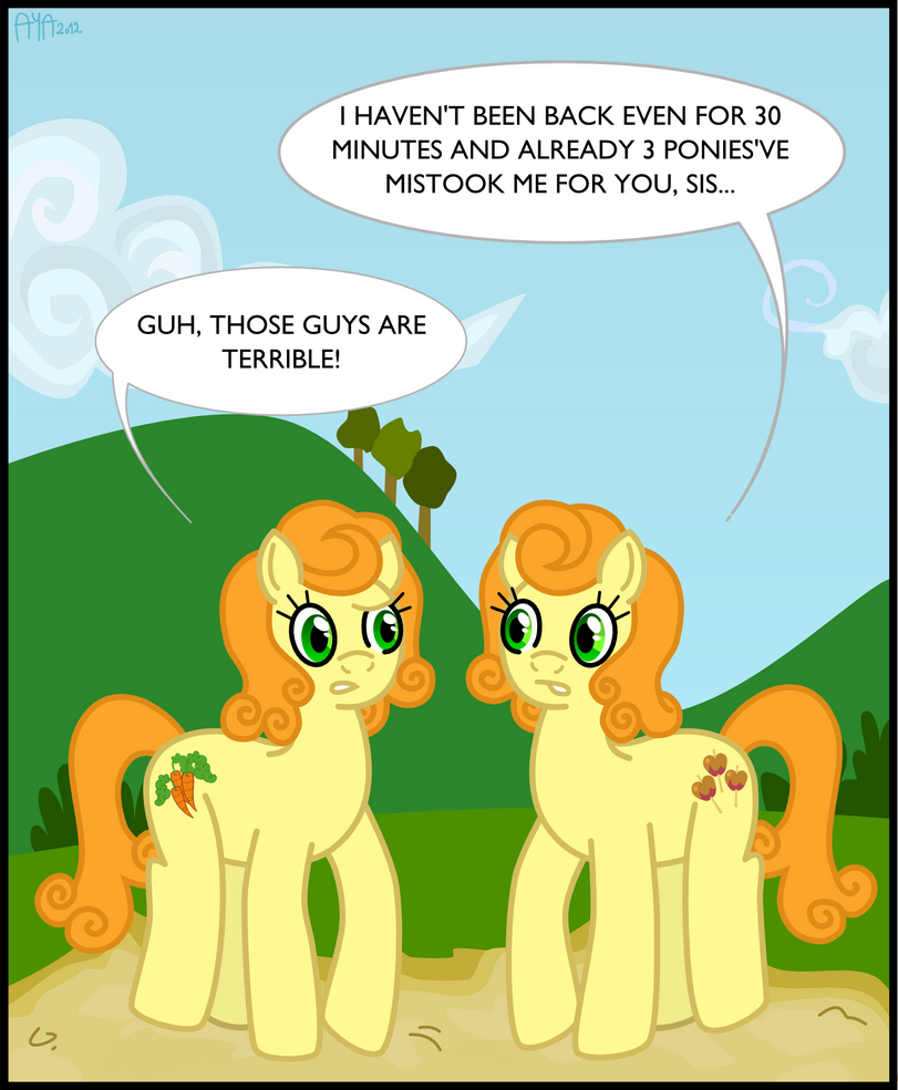 Carrot Top and Caramel Apple by Puu-aj-chan