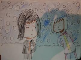 me and shu kurenai in winter outfit