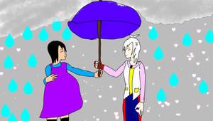 me and shu kurenai holding umbrella together
