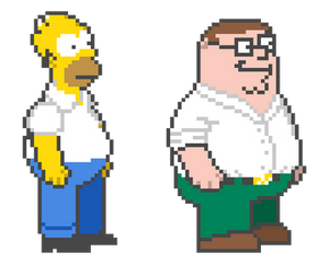 Peter Griffin in The Simpsons Arcade Style