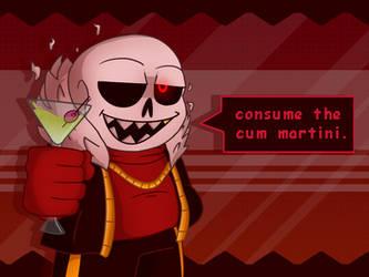 Consume the Cum Martini (Red)