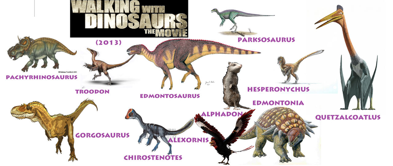 the dinosaurs of walking with dinosaurs 2013 by
