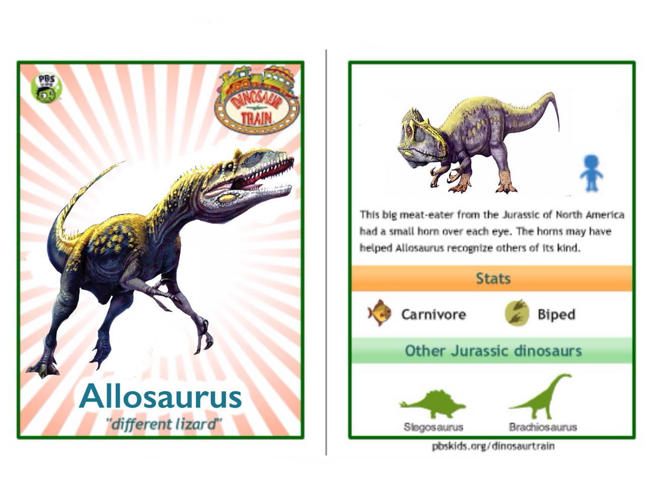Dinosaur Train Allosaurus card by Vespisaurus on DeviantArt