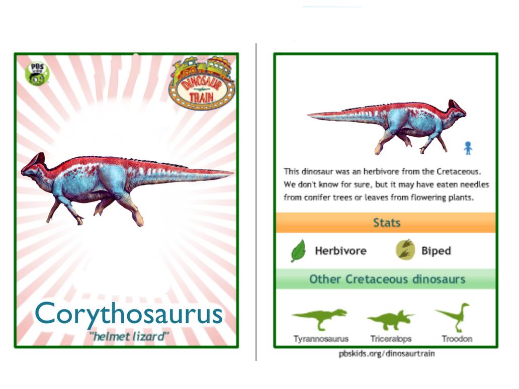 dinosaur train corythosaurus card by vespisaurus on deviantart