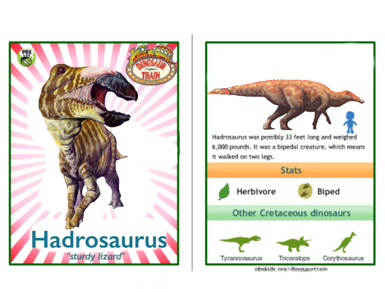 dinosaur train hadrosaurus card by vespisaurus dinosaur train hadrosaurus card by vespisaurus
