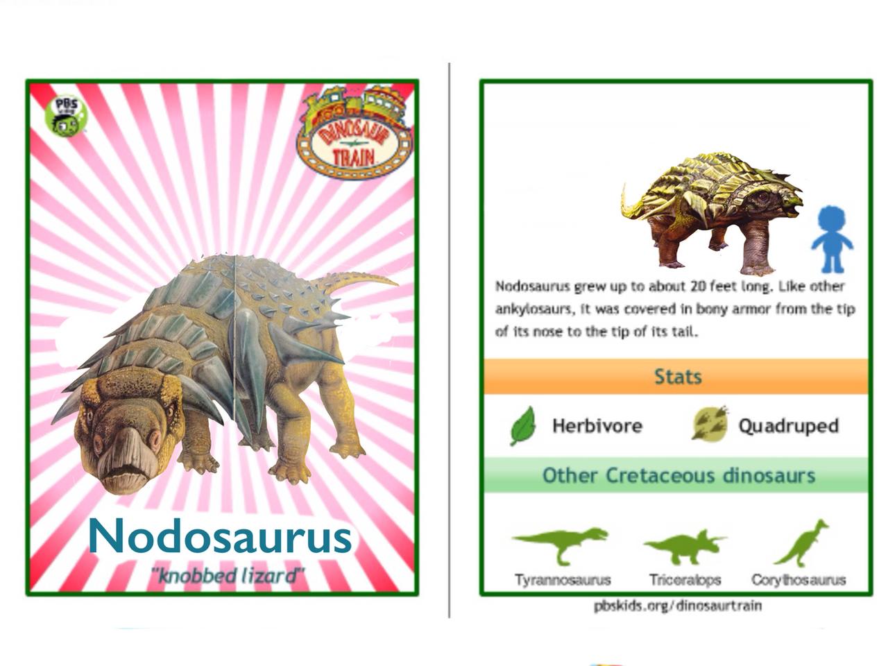 Dinosaur Train Nodosaurus card by Vespisaurus on DeviantArt