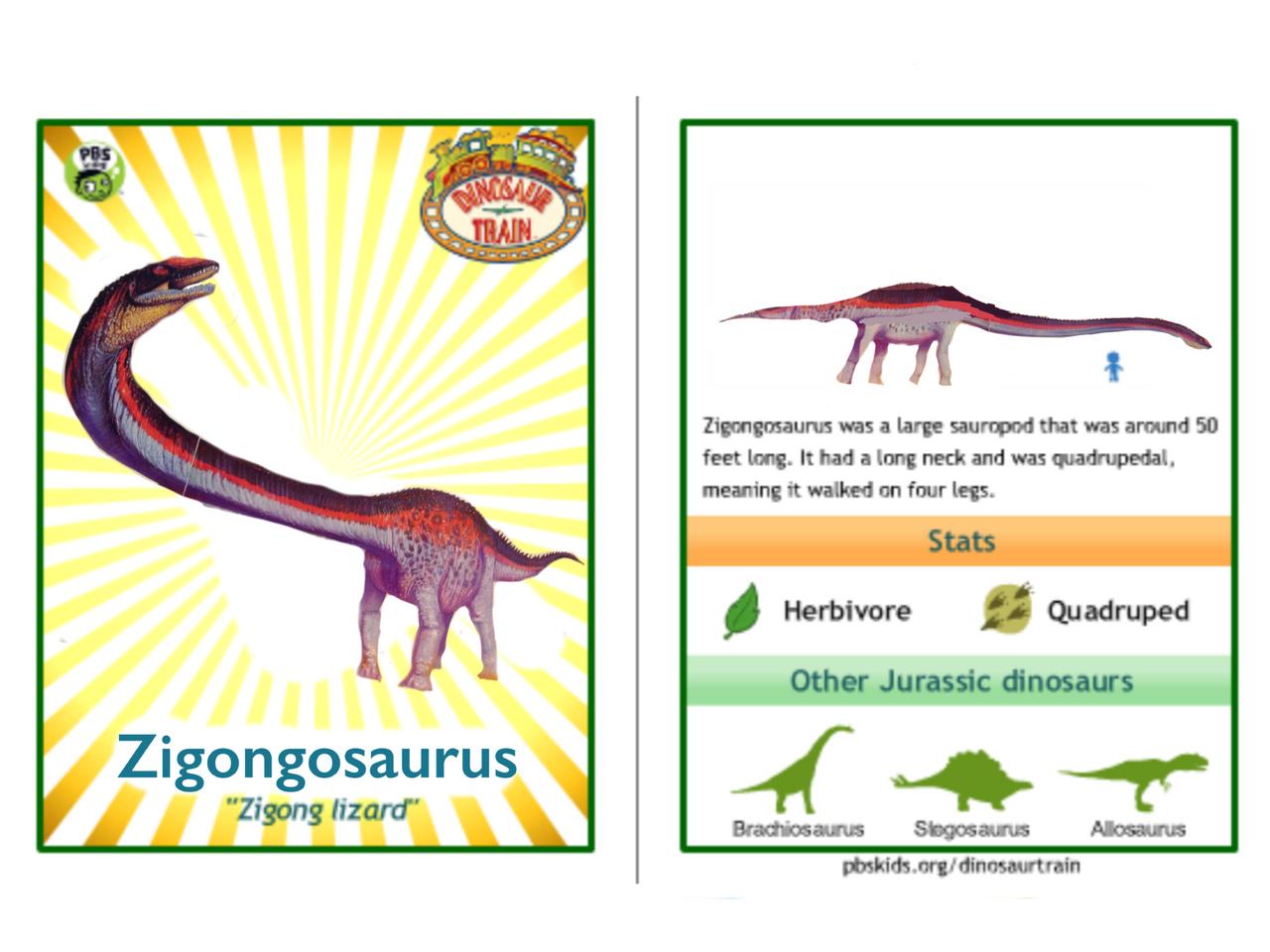 Dinosaur Train Zigongosaurus card by Vespisaurus on DeviantArt