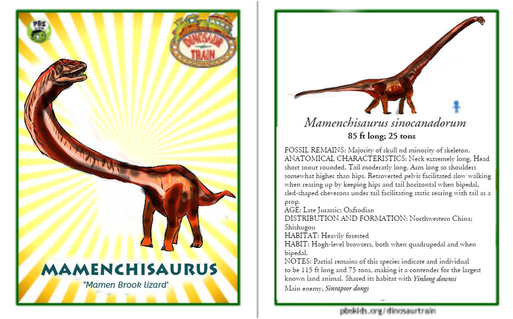Dinosaur Train Mamenchisaurus card (revised) by ...
