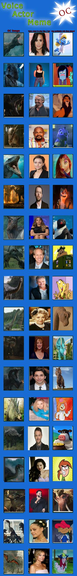 OC Voice Actor Meme- Jurassic World Fallen Kingdom by Vespisaurus