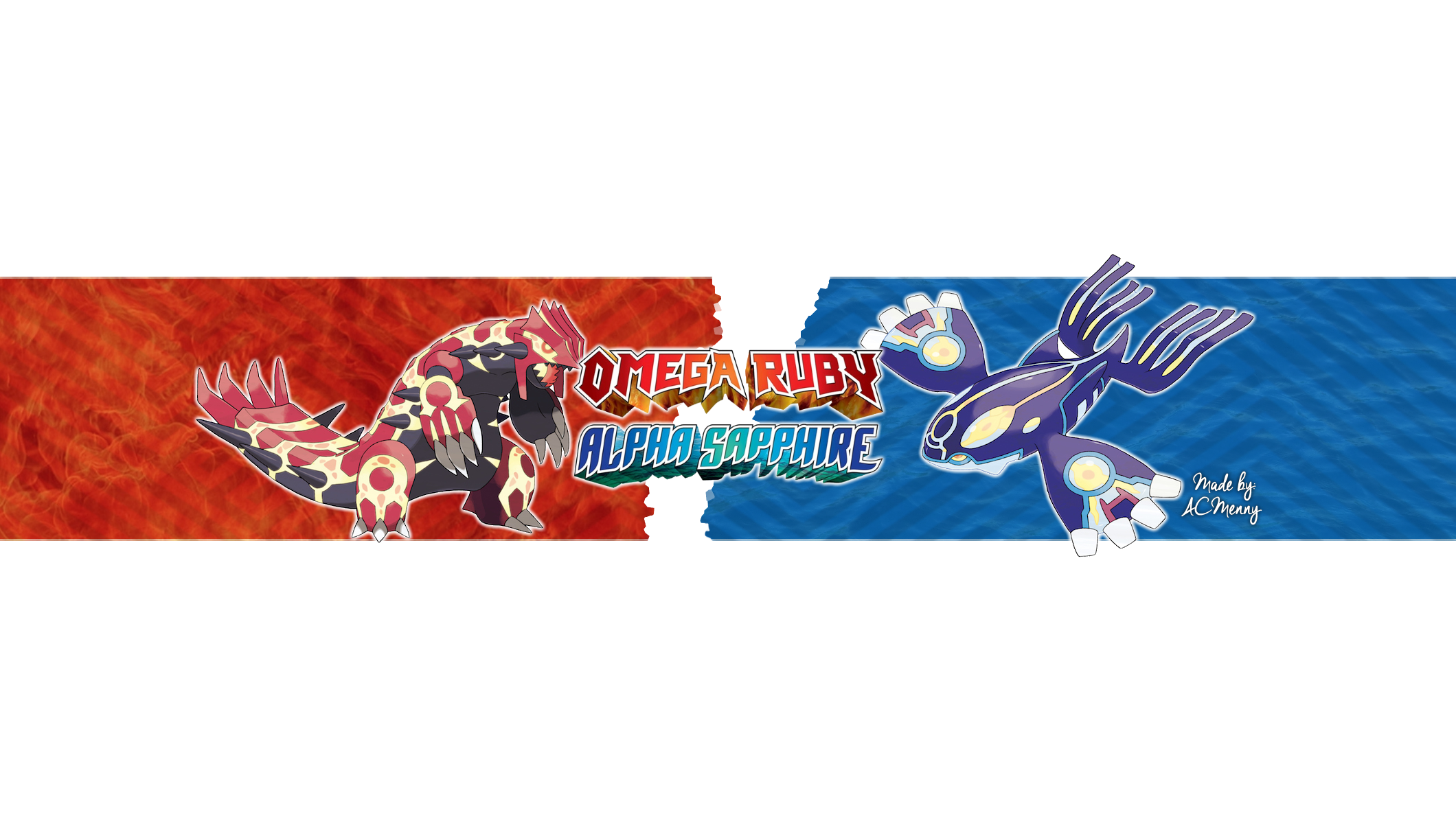 pokemon omega ruby alpha sapphire youtube banner by acmenny on deviantart. Black Bedroom Furniture Sets. Home Design Ideas
