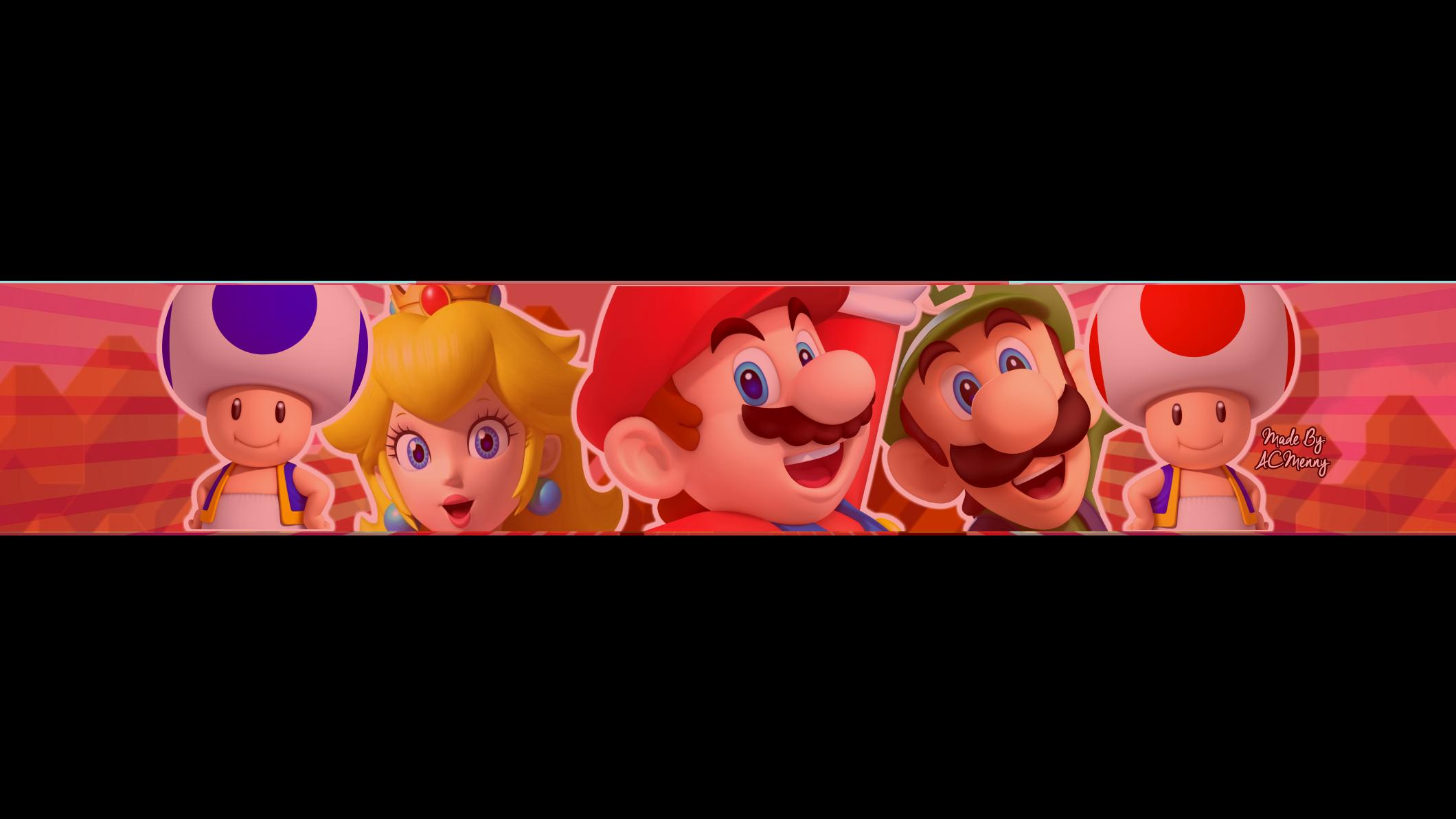 FREE Super Mario YouTube Bannner by ACMenny on DeviantArt