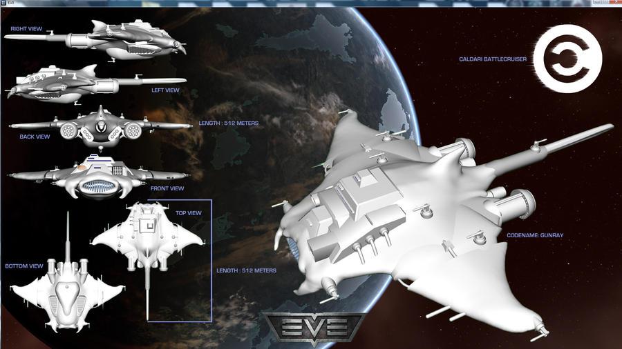 Caldari Gunray Battlecruiser by Ivanoftheforce