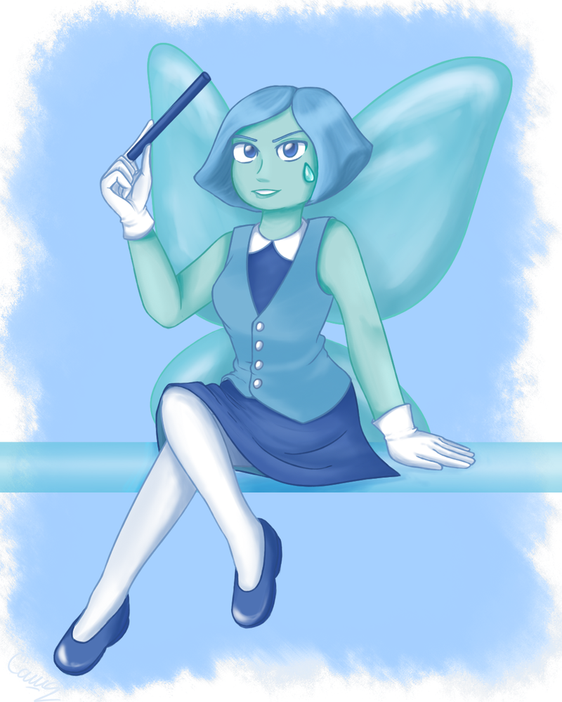 I'm aliiiiiive! And I bought a sketchbook! So, I guess I'll draw more but... Will I publish more? Who knows... Oh yeah, about an art! This is just Aquamarine from SU.