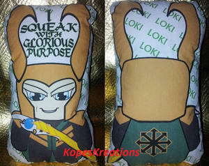 LOKI 'I Squeak With Glorious Purpose' Squeakr Doll