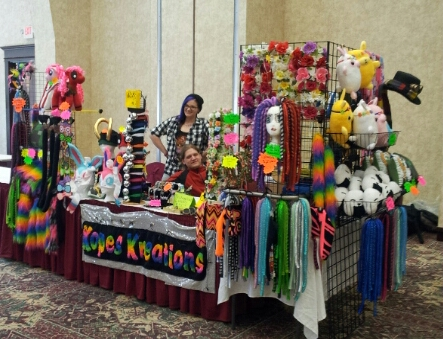 Our Artist Alley Table by kopeskreations