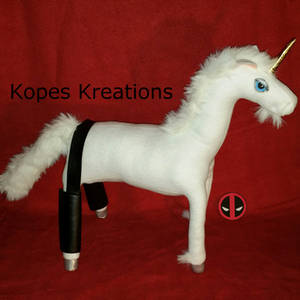 Deadpool Sexy Unicorn with Buttless Chaps Plush