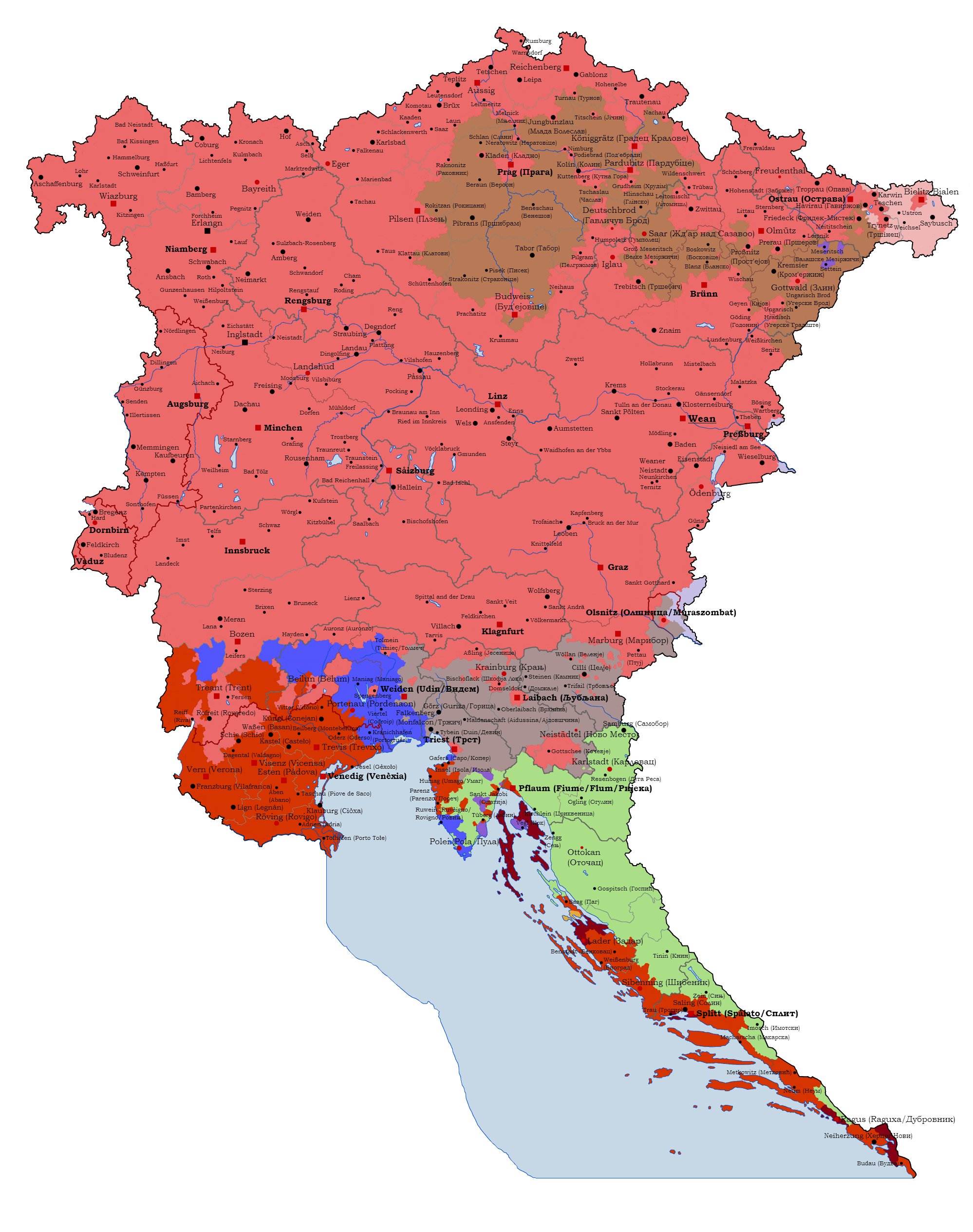Balkans On Map Balkan peninsula 1938 1945