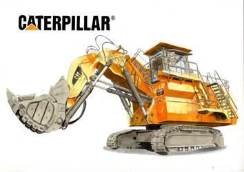 Rough hydraulic mining shovels