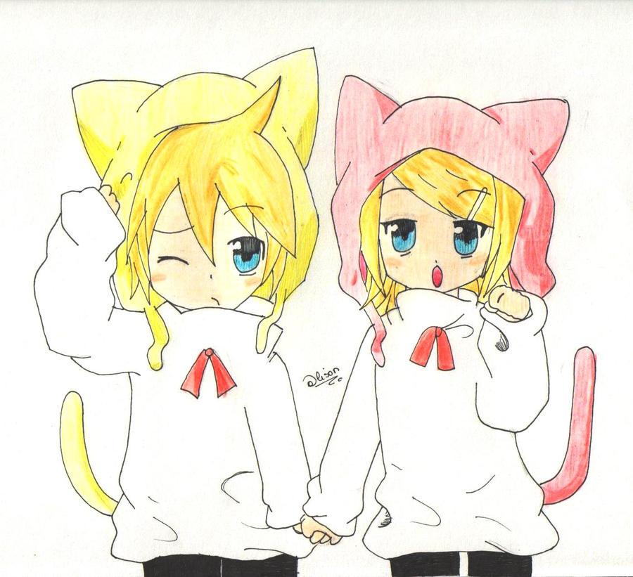 Kagamine Rin And Len Neko Rin y Len Kagamine Neko by