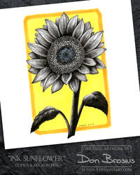 Ink Sunflower by Donny-B