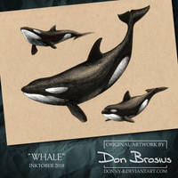 Inktober 2018 - Whale by Donny-B