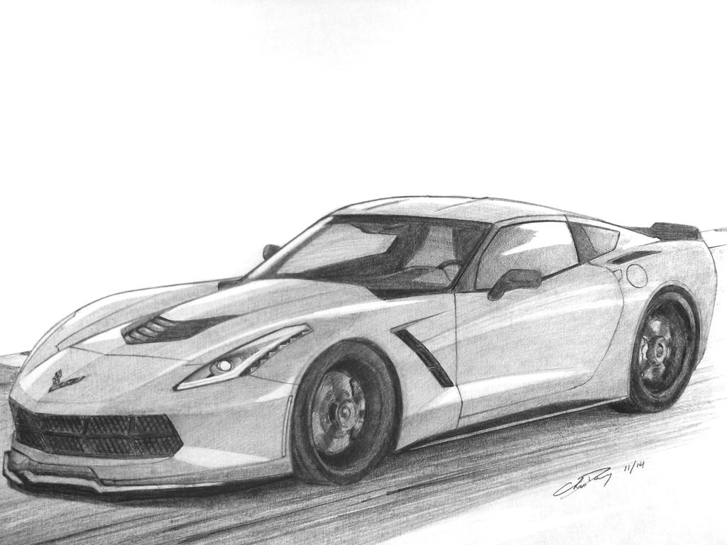 corvette stingray drawings wwwpixsharkcom images