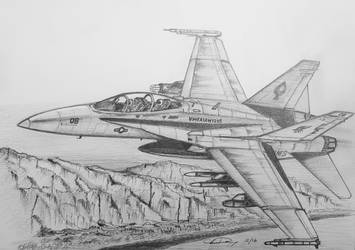 F/A-18 Rocking the Canyons by ronincloud