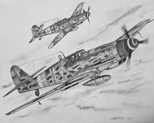 Messerschmitt BF109 by ronincloud