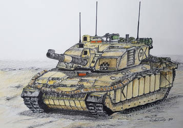 British Challenger 2 Main Battle Tank by ronincloud