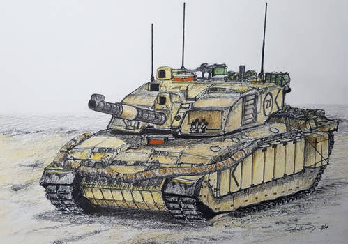 British Challenger 2 Main Battle Tank