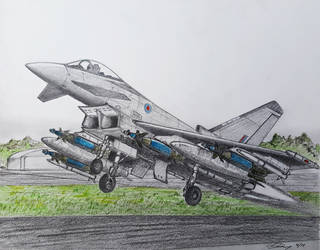 Eurofighter Typhoon by ronincloud