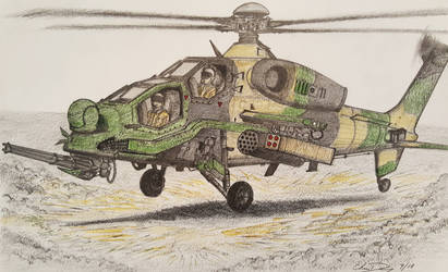 T-129 ATAK Helicopter by ronincloud