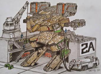 War Robot Rhino by ronincloud