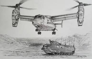 V-22 Osprey by ronincloud