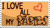 I Love All My Babies - Stamp by SerenaVerdeArt