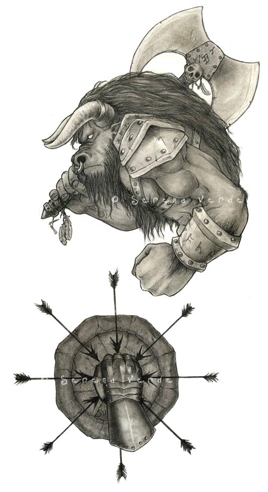 God of War First Challenge by SerenaVerdeArt