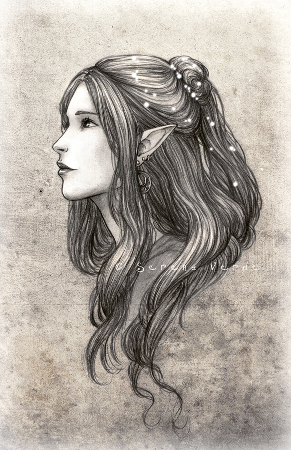 how to draw a female elf