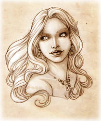 Portrait Commission: Ebony by SerenaVerdeArt