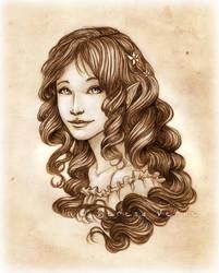Portrait Commission: Aurea by SerenaVerdeArt