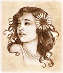 Portrait Commission: Longing by SerenaVerdeArt