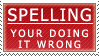 Spelling - stamp by SerenaVerdeArt