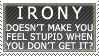 Irony - stamp by SerenaVerdeArt