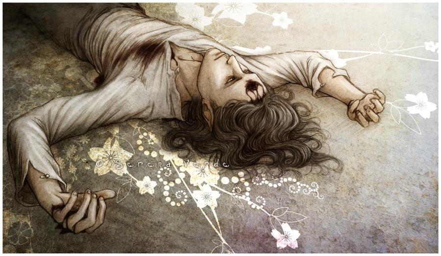Llego con Tres Heridas by SerenaVerdeArt