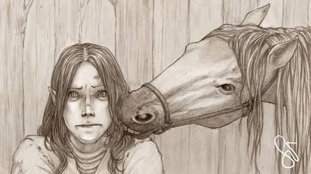 Horsey Love by SerenaVerdeArt