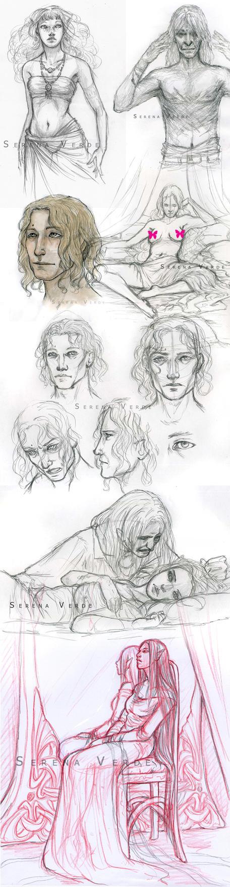 Inavesu Sketchdump - I by SerenaVerdeArt