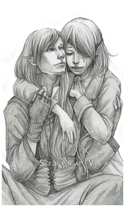 Commission: Briae and Verinel by SerenaVerdeArt